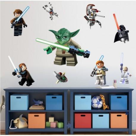 Nálepky na stěnu / zeď Star Wars postavy Lego